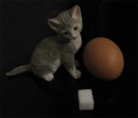 Sugar, egg, statuette