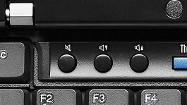 X201 volume buttons